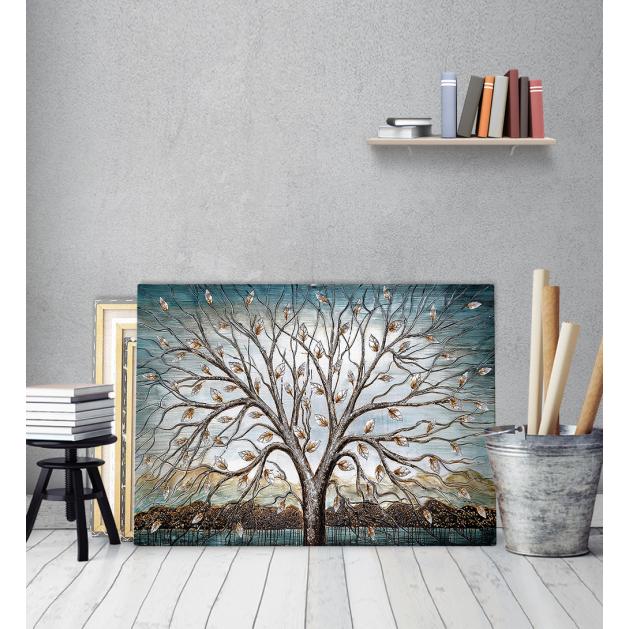 Πίνακας ζωγραφικής σε Καμβά με δέντρο φύλλα