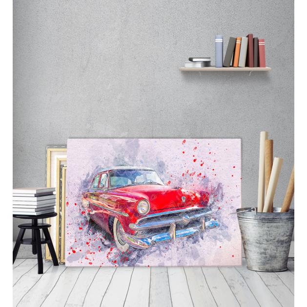 Πίνακας ζωγραφικής σε Καμβά με Παλίο Αυτοκίνητο Vintage