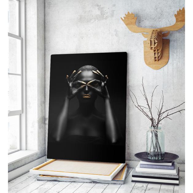 Πίνακας σε Καμβά woman dark...