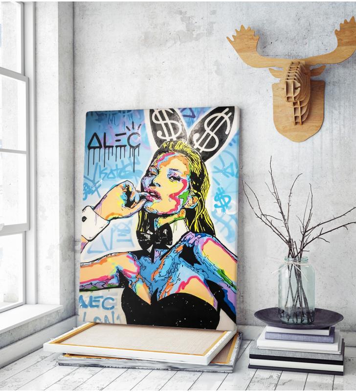 Πίνακας σε Καμβά Kate Moss Playboy Street Art