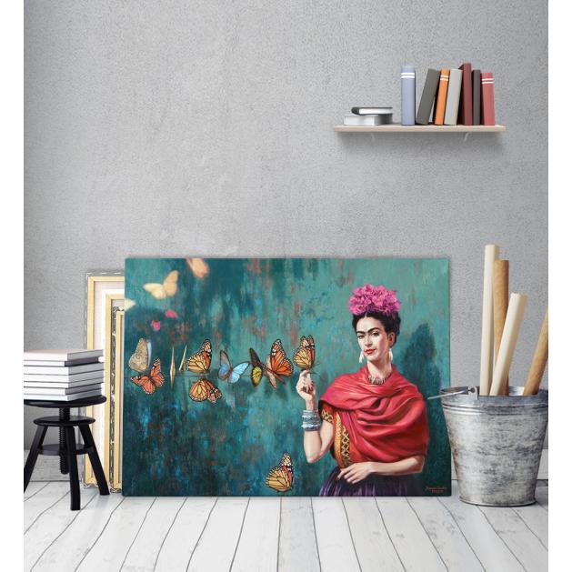 Πίνακας σε Καμβά Butterfly Frida Kahlo
