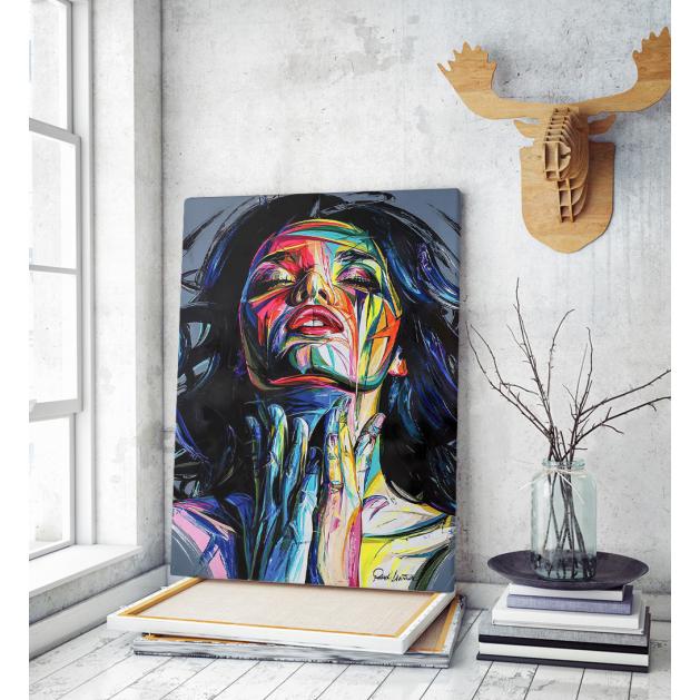 Πίνακας σε Καμβά Portrait painting Art Woman