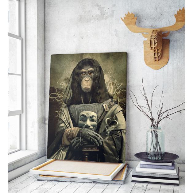 Πίνακας σε Καμβά Mona Lisa Monkey Art