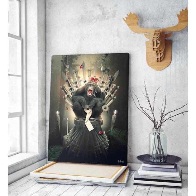 Πίνακας σε Καμβά Game of Thrones Monkey Art