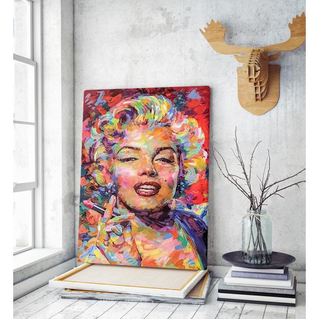 Πίνακας σε Καμβά colorful paint Marilyn Monroe