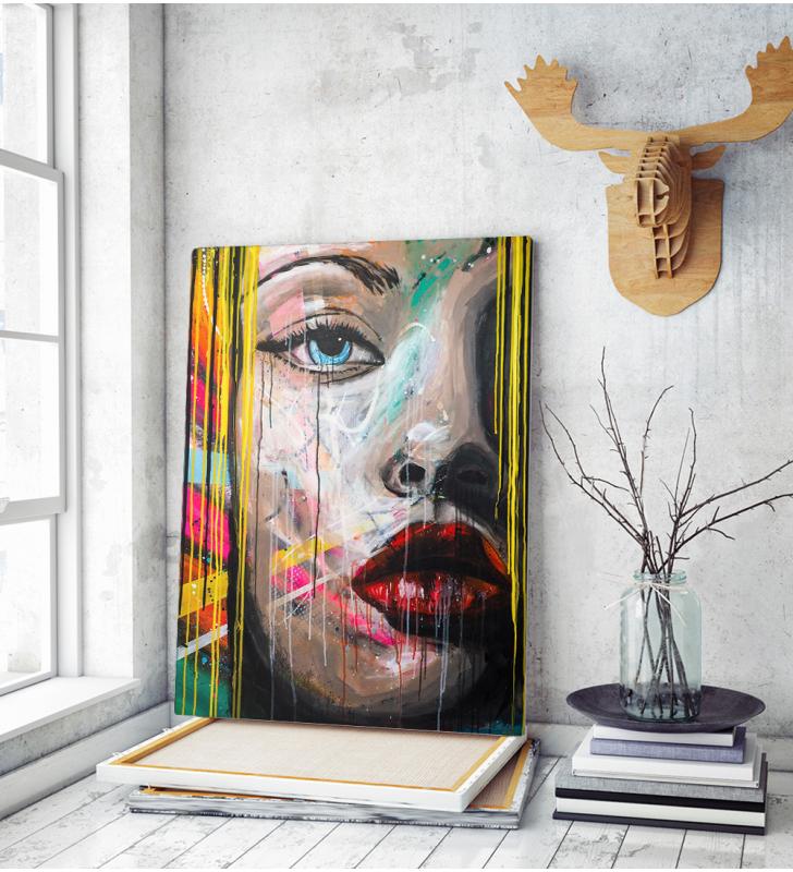 Πίνακας σε Καμβά woman Portrait Pop Art