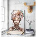Πίνακας σε Καμβά : women portrait african art