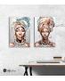 Σύνθεση με πίνακες Καμβάδες : Portrait African Women - 2 Τεμάχια 70x 50