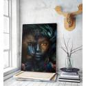 Πίνακας σε Καμβά : boy monkey art portrait