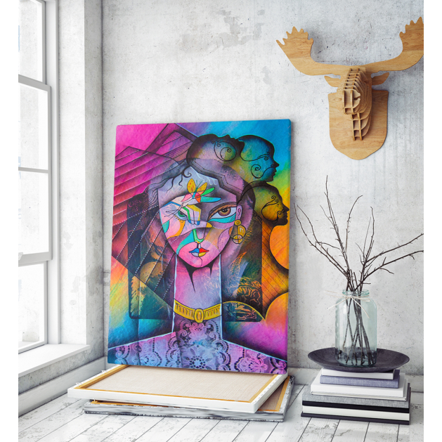 Πίνακας σε Καμβά : Girl portrait Beauty woman art