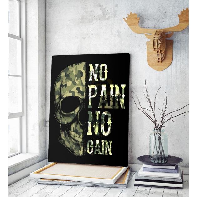 Πίνακας σε Καμβά : army skull na pane no gain
