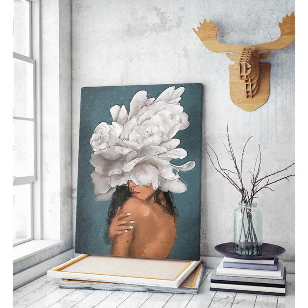 Πίνακας σε Καμβά : blossom & woman