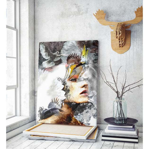 Πίνακας σε Καμβά : mystery portrait painting woman