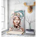 Πίνακας σε Καμβά : Portrait African Woman