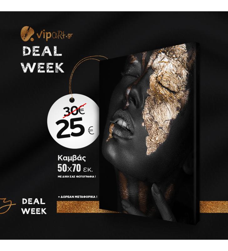 Deal of The Week Εκτύπωση φωτογραφίας η σχέδιο σε Πίνακα καμβά με τελάρο 50x70
