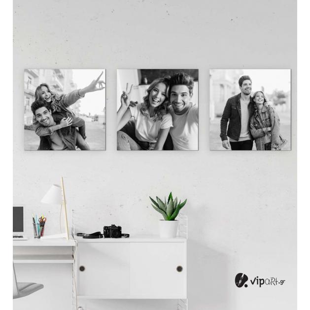 Σύνθεση με πίνακες Καμβάδες με δικές σας φωτογραφίες 35x35 - 3 Τεμάχια