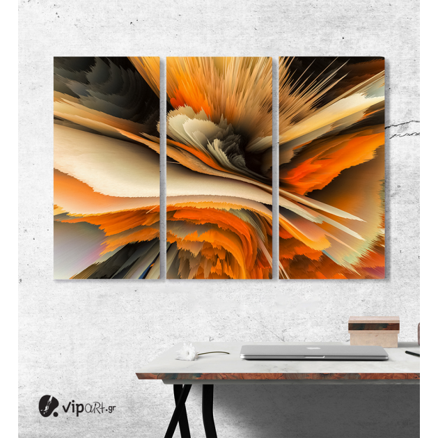 Πίνακας Καμβάς Τρίπτυχος Abstract art paint