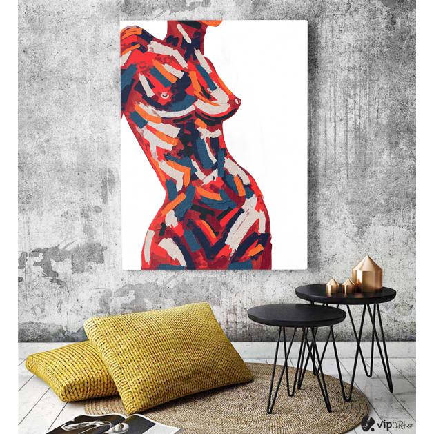 Πίνακας σε Καμβά : Female Body Art