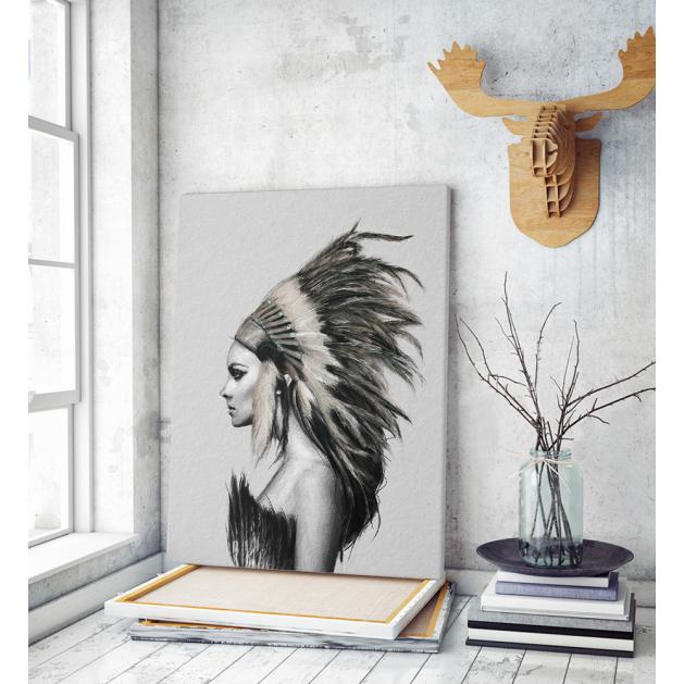 Πίνακας σε Καμβά : Indians Woman Nordic Style