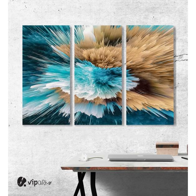 Πίνακας Καμβάς Τρίπτυχος Abstract art paint 02